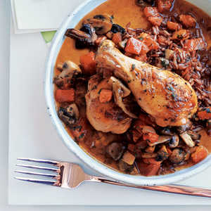 Chicken with Mushrooms and Tomato Recipe