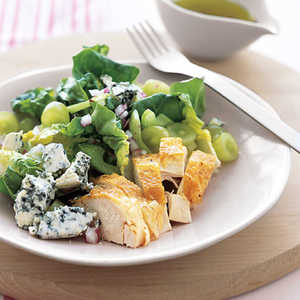 Roast Chicken with Grape and Blue Cheese SaladRecipe