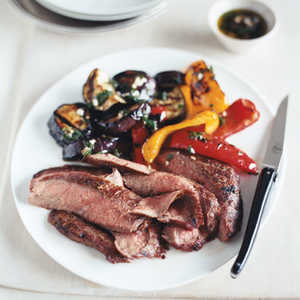 Grilled Flank Steak and Balsamic VegetablesRecipe