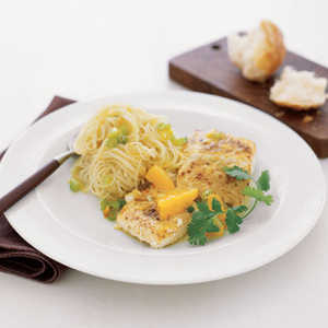 Halibut with Oranges and Angel Hair Pasta Recipe