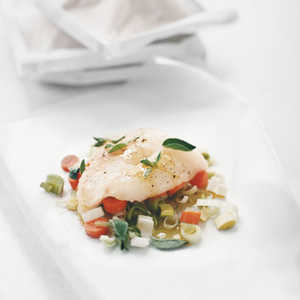 Halibut with Carrots and LeeksRecipe