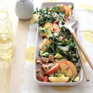 """""""Beef, Watercress, and Peach Salad with Lime Vinaigrette""""Recipe"""