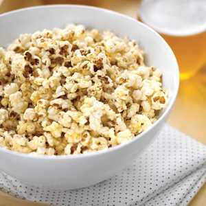 Popcorn with Brown Butter and Parmesan Recipe