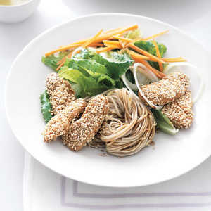 Sesame Chicken and Soba Noodles Recipe