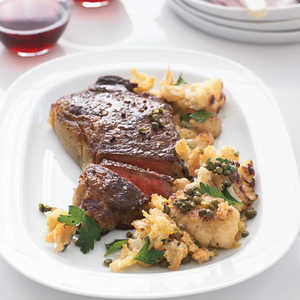 Steak with Cauliflower and Crispy Bread CrumbsRecipe