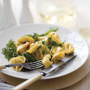 """Tortellini with Bacon, Greens, and Brown Butter"" Recipe"