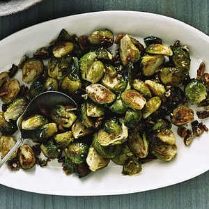 Roasted Brussels Sprouts with PecansRecipe
