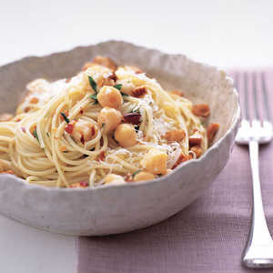 Chickpea Pasta with Almonds and ParmesanRecipe