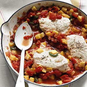 Halibut with Spicy Squash and TomatoesRecipe