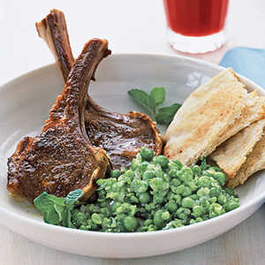 Spiced Lamb Chops and Smashed Peas Recipe