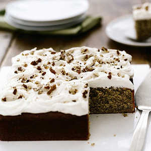 Pecan Cake with Rum Frosting Recipe