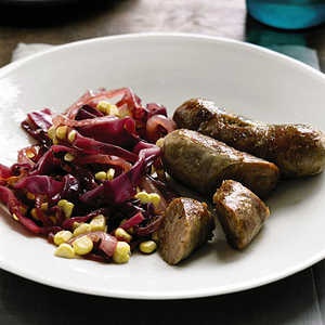 Sausage with Cabbage and Corn Sauté Recipe