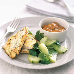 """Sautéed Chicken with Peanut Dipping Sauce"" Recipe"