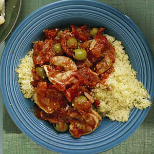 Shrimp with Tomatoes and OlivesRecipe