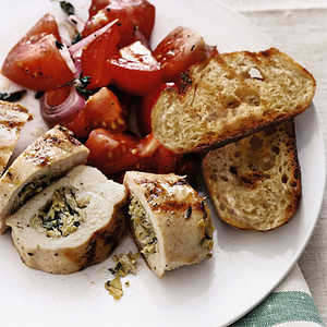 Stuffed Chicken Breasts with Tomato SaladRecipe