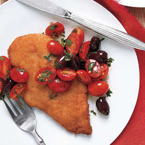 Chicken Breasts with Tomato Olive SaladRecipe