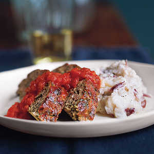 Turkey Meat Loaf with Mashed PotatoesRecipe