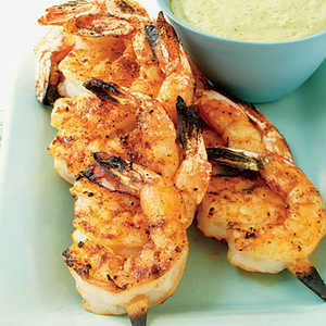 Juicy Shrimp with Roasted Chile and Avocado SauceRecipe
