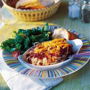 Baked Linguine with Meat Sauce Recipe