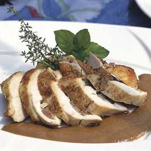 Stuffed Chicken Breasts with Sweet-and-Sour Tomato SauceRecipe