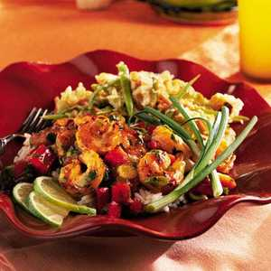 Grilled Shrimp with Tropical Fruit Sauce Recipe