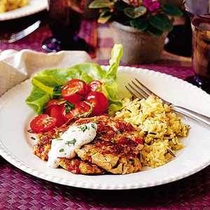 Chicken Cakes with Creole SauceRecipe