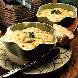 Sweet Corn Soup with CrabRecipe