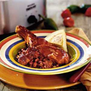 Spicy-Sweet Ribs and BeansRecipe