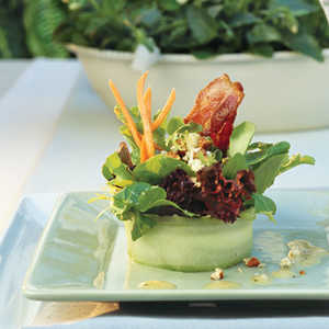 Bacon-Blue Cheese Salad With White Wine Vinaigrette Recipe