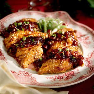 Caramelized Chicken with Cranberry ConserveRecipe