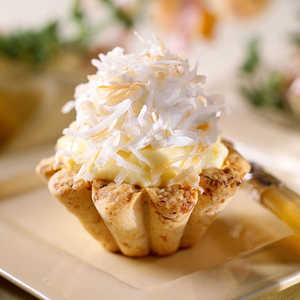 Coconut Cream Tarts with Macadamia Nut CrustsRecipe