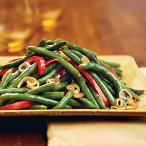 Green Beans With Shallots and Red Pepper Recipe