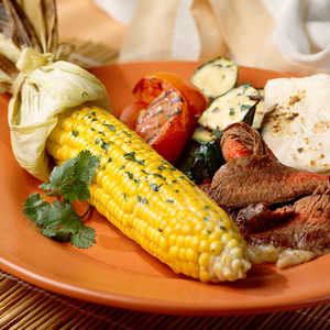 Grilled Vegetables with Cilantro ButterRecipe