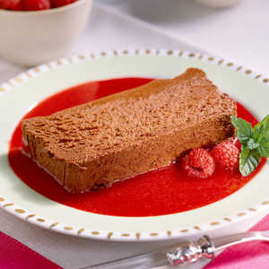 Chocolate Mousse Loaf with Raspberry PuréeRecipe