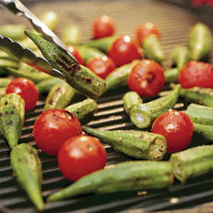 Grilled Okra and Tomatoes Recipe