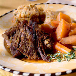 Pot Roast with Dumplings Recipe