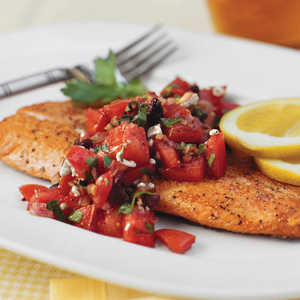 Pan-Seared Trout With Italian-Style SalsaRecipe