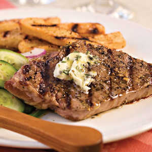 Strip Steak With Rosemary ButterRecipe