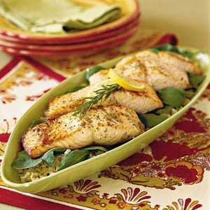 Broiled Salmon with Lemon and Olive OilRecipe