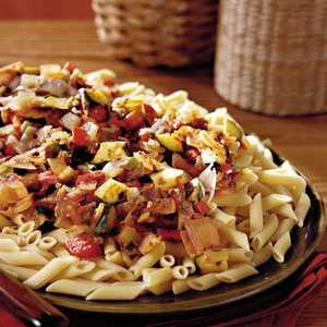 Spicy Vegetables With Penne PastaRecipe
