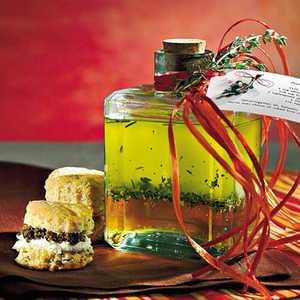 Cream Cheese-and-Olive Biscuits With Olive-Parsley SpreadRecipe