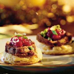 Pork Tenderloin on Cornmeal BiscuitsRecipe