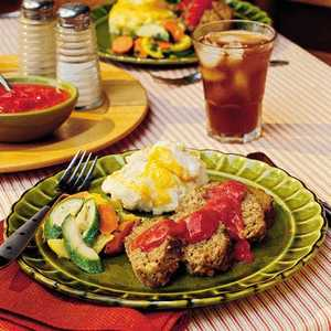 Meatloaf With Green Chile-Tomato GravyRecipe