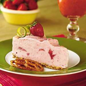 Spiked Strawberry-Lime Ice-Cream Pie Recipe