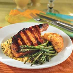 Saucy Pork Chops With Orange SlicesRecipe
