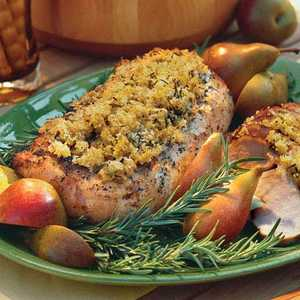 Grilled Pork Loin With Rosemary-Breadcrumb CrustRecipe