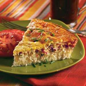 Savory Ham-and-Swiss Breakfast PieRecipe