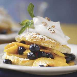Southern Peach-and-Blueberry ShortcakesRecipe