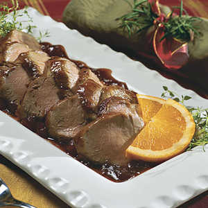 Orange-Cranberry-Glazed Pork TenderloinRecipe