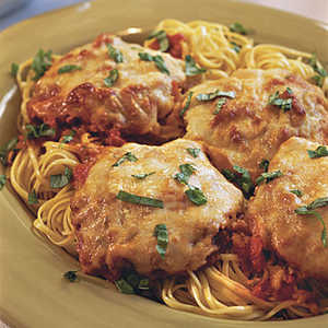 Pounded Pork Parmesan With Linguine Recipe